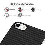 Pitaka Aramid кевларовый чехол для iPhone 7/8 Black, фото 4