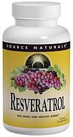 Ресвератрол (Resveratrol), Source Naturals,   60 таблеток