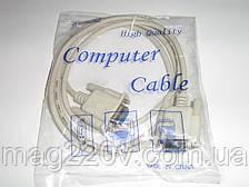 Нуль модемный кабель RS 232 DB9 / RS 232 DB9
