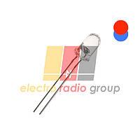 Светодиод 5 mm, прозрачный, красный/синий, мигающий, быстрое мигание