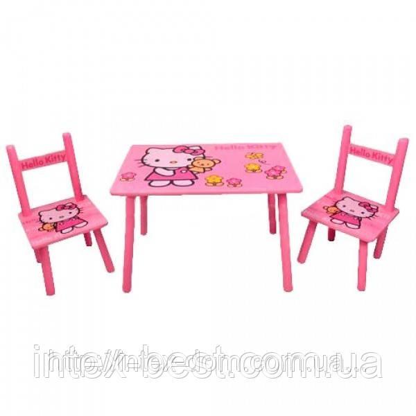 Детский столик со стульчиками «Китти» Bambi M0293