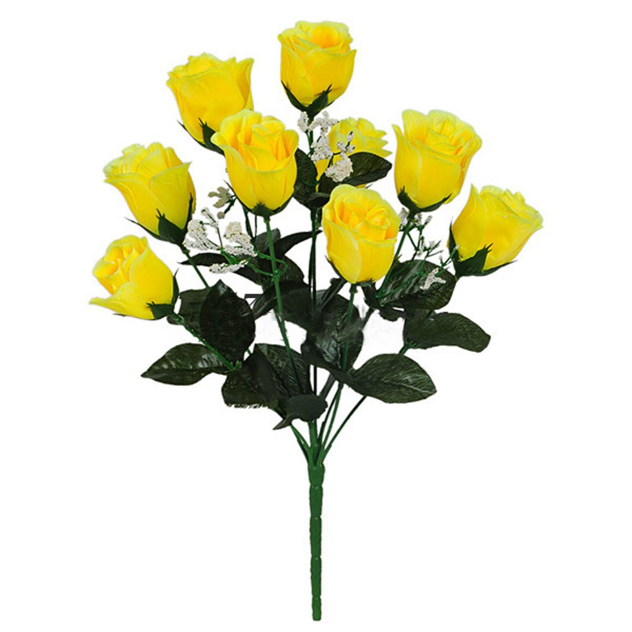 Букет бутон розы с гипсофилой, 38см (726)