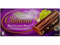 Шоколад молочный Chateau Rum Trauben Nuss, 200г