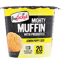 FlapJacked, Mighty Muffin with Probiotics, Lemon Poppy Seed, 1.9 oz (55 g)