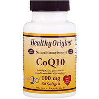 Коэнзим Q10, Healthy Origins, CoQ10, 100 мг, 60 капсул