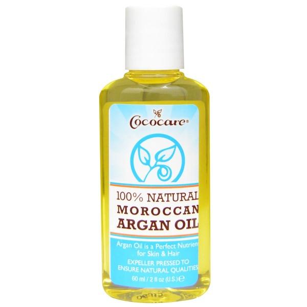 100% аргановое масло, полностью натуральное, Cococare, 60 мл