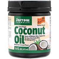 Органічне кокосова олія першого віджиму, для випічки і косметичних процедур, Jarrow Formulas, 474г.