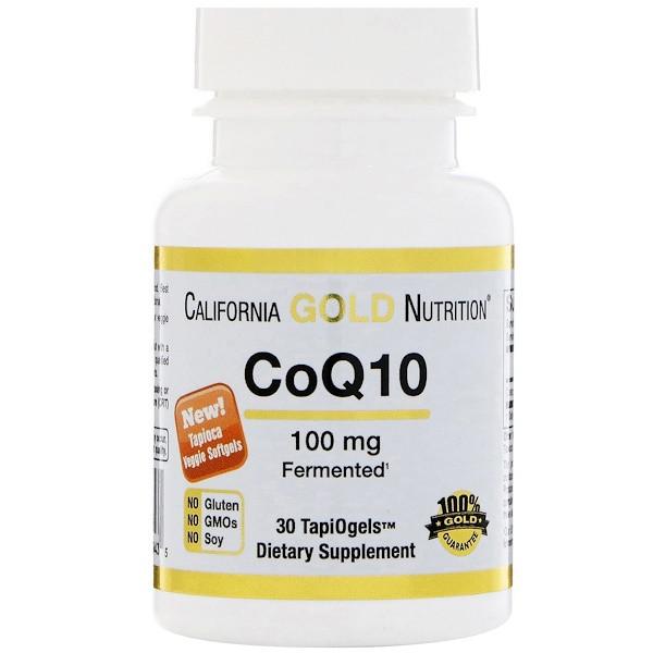Кофермент Q10, 100мг, 30 капсул, California Gold Nutrition