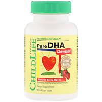 Омега-3 + ДГК для детей, ChildLife, с ягодным вкусом, 90 капсул