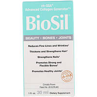 Natural Factors, BioSil, ch-OSA препарат, улучшающий выработку коллагена, 30 мл