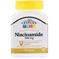 Витамин В3 Ниациномид, 21st Century Health Care, 500 мг, 110 таблеток