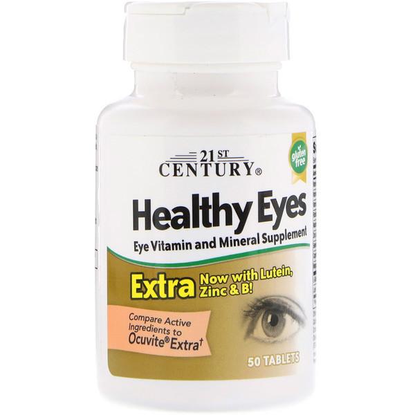 Витамины и минералы для зрения, 21st Century Health Care, 50 таблеток