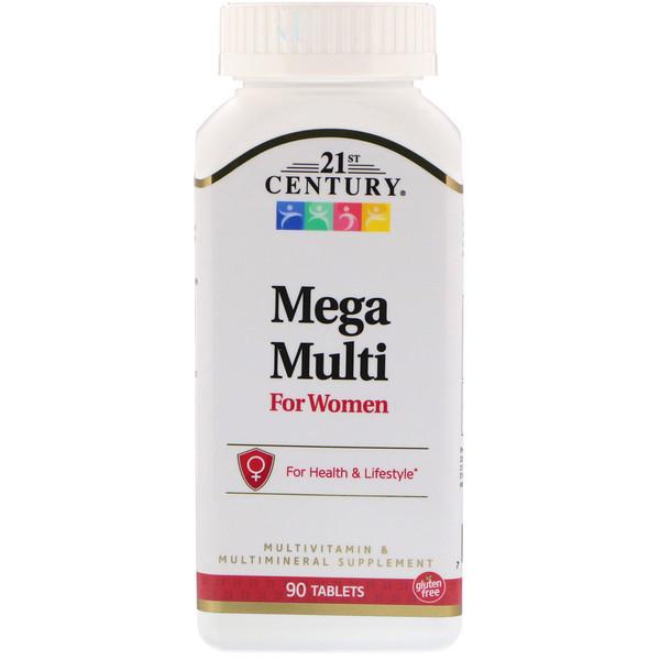 Витамины и минералы для женщин, 21st Century, 90 таб.