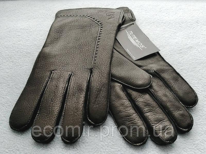 Перчатки мужские кожа оленя, внутри шерсть. Супер качество!
