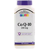 Коэнзим Q10, 21st Century Health Care, 200 мг, 120 капсул