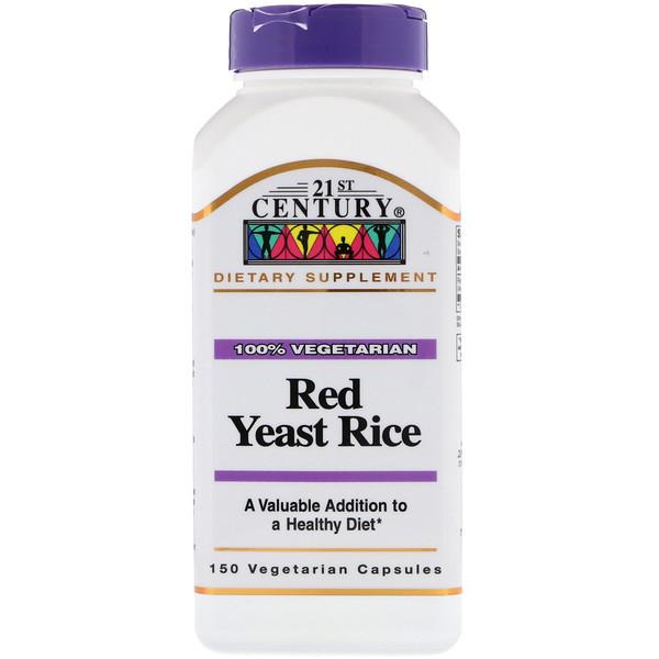 Красный дрожжевой рис, 21st Century Health Care,150 к.