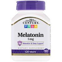 Мелатонин 5 мг, 21st Century Health Care, 120 таб.