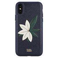 Luna Aristo Phyllis Case Navy For iPhone X/XS (LA-IPXSPPHY-NVY)