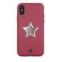 Luna Aristo Astro for iPhone X/XS Maroon Red (LA-IPXSTAR-RED)