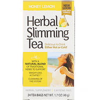 Чай для похудения (мед, лимон), 21st Century Health Care, 24 пак.(45 г)