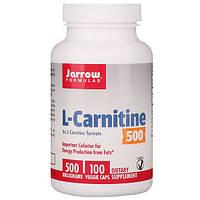 L-карнитин Фумарат, Jarrow Formulas, 100 капсул