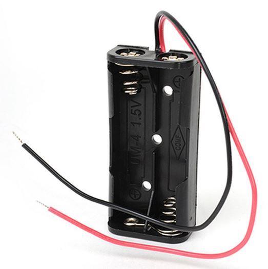 "Держатель, батарейный отсек, бокс, кейс, держатель, футляр на 2 батарейки ""ААА"", размер 52x24мм"