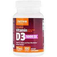 Витамин Д3, 5000 IU, Jarrow Formulas, 100 капсул