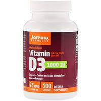 Витамин Д3, холекальциферол, 1000 IU, Jarrow Formulas, 200 кап.