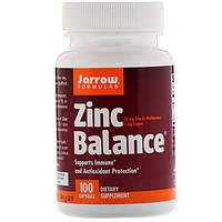 Цинк баланс, Jarrow Formulas, Zinc Balance, 100 капсул
