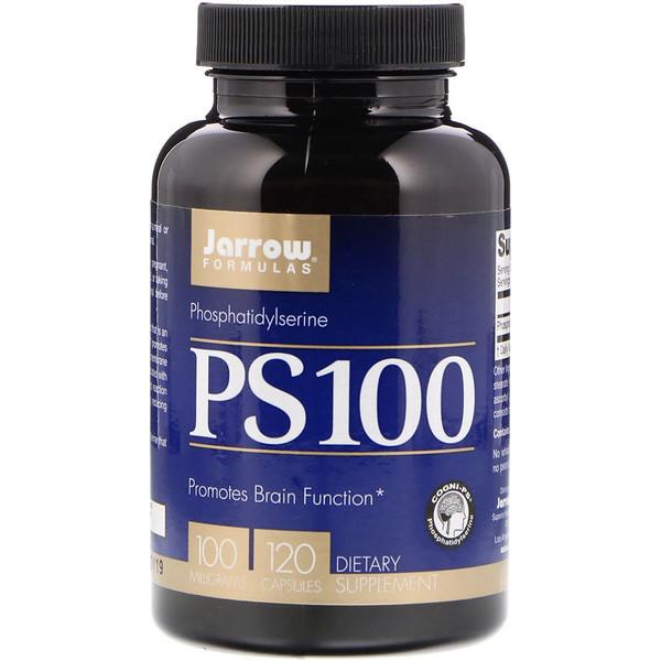 Фосфатидилсерин, Jarrow Formulas, PS 100, 100мг, 120 капсул