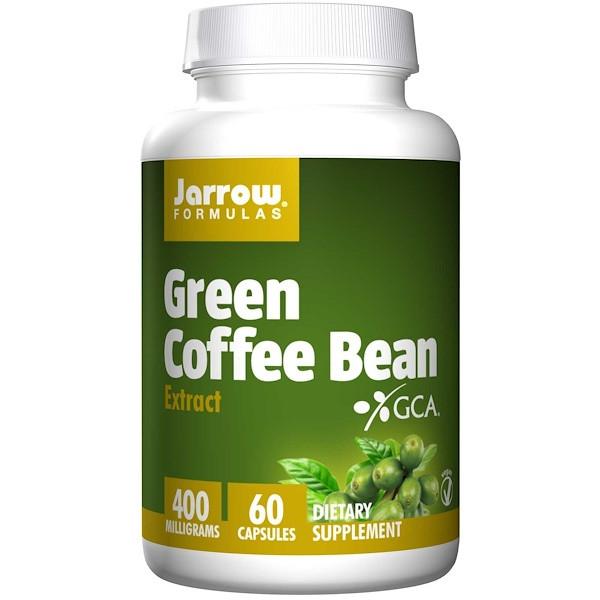 Екстракт зелених кавових зерен, Кави для схуднення, Jarrow Formulas, 400 мг, 60 до
