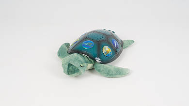 Ночник-проектор в форме черепахи. Сделан из плюша и пластика. 3 режима подсветки