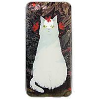 Чехол с рисунком Printed Silicone для Honor 9 Lite Кошка