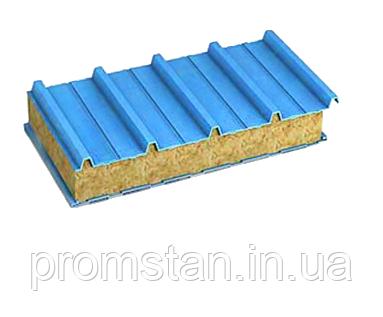 Покрівельні сендвіч-панелі, наповнювач мінеральна вата 200 мм, фото 2