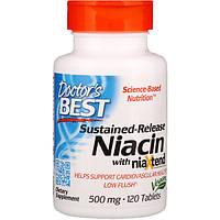 Витамин В3 (ниацин), Doctor's Best, 500 мг, 120 таблеток