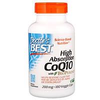 Коэнзим Q10, Doctor's Best, 200 мг, 180 капсул