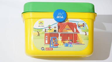 Конструктор аналог Lego Duplo дом с мебелью и качелями, фото 3