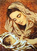 """Икона из янтаря """" Дева Мария """""""