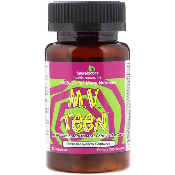 Витамины для подростков, FutureBiotics, M.V. Teen, 90 капсул