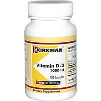Вітамін D-3, Kirkman Labs, 1000 МО, 120 капсул