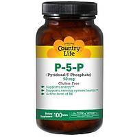Пиридоксаль, витамин В6, Country Life, 50 мг, 100 таблеток