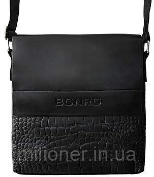 Сумка мужская Bonro через плечо черная Model 5, фото 2