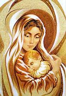 """Икона из янтаря. """" Дева Мария """""""