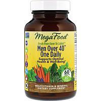 Витамины для мужчин, Mega Food, без железа, 40+, 60 таблеток