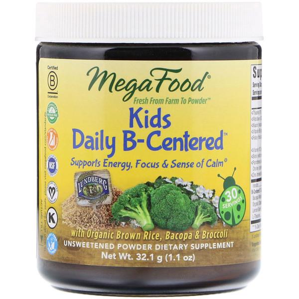 Витамины группы В для детей (Kids Daily B-Centered), MegaFood, 32.1 г