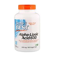 Альфа-липоевая кислота, Doctor's Best, 600 мг, 180 капсул