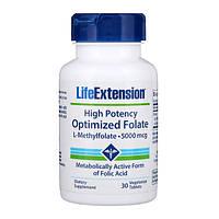 Фолат, Life Extensions, 5000 мкг, 30 таблеток