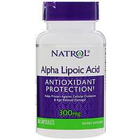Альфа-липоевая кислота, Natrol, 300 мг, 50 капсул