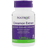Экстракт корицы, Natrol, 1000 мг, 80 таблеток