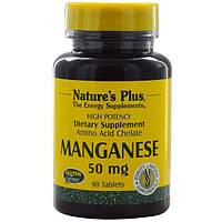 Марганец, Nature's Plus, 50 мг, 90 таблеток